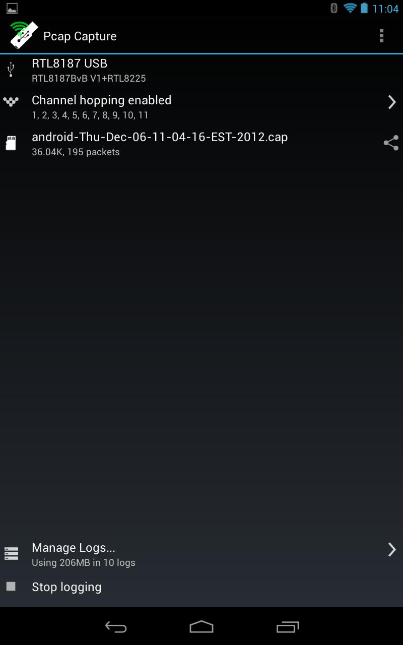 Android PCAP